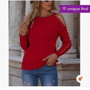 Zulily -Romantic Hut -Red Beaded Cutout Sweater
